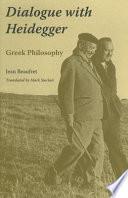Dialogue with Heidegger