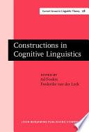 Constructions In Cognitive Linguistics