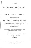 The Buyers  Manual and Business Guide