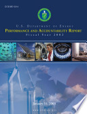 U S Department Of Energy Performance And Accountability Report Fiscal Year 2002 Book PDF