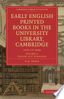 Early English Printed Books in the University Library  Cambridge