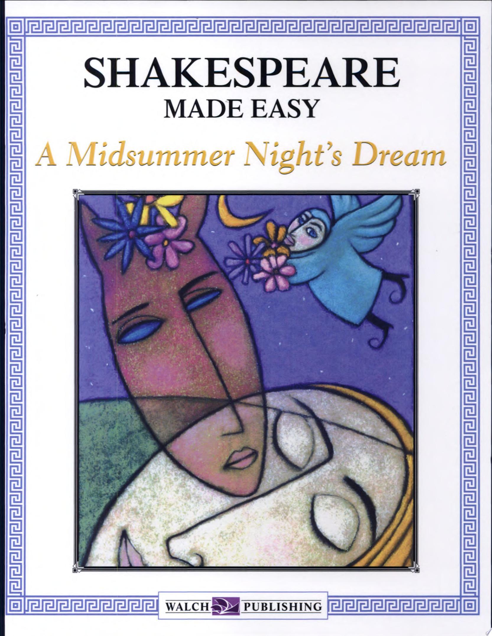 Shakespeare Made Easy  A Midsummer Night s Dream