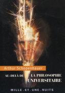 Pdf Au-delà de la philosophie universitaire Telecharger