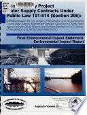 Central Valley Project Water Supply Contracts Under Public Law 101 514  Section 206   Appendix