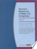 Hoover's Masterlist of Major U.S. Companies 2001