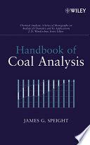 Handbook of Coal Analysis Book