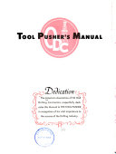 Tool Pusher s Manual