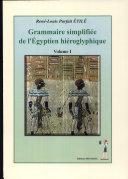 Grammaire égyptienne de l'Egyptien hiéroglyphique