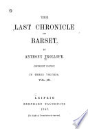The Last Chronicle of Barset Book