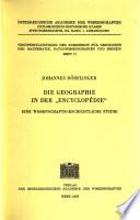 Die Geographie in der Encyclopédie