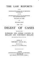 The Law Reports Of The Incorporated Council Of Law Reporting For Ireland And The Incorporated Council Of Law Reporting For Northern Ireland