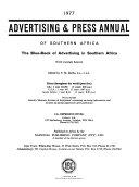 The Advertising Press Annual Of All Africa