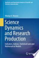 Science Dynamics And Research Production Book PDF