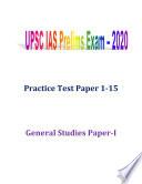 UPSC IAS Prelims Exam 2020 Practice Test 1-15