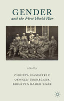 Pdf Gender and the First World War Telecharger