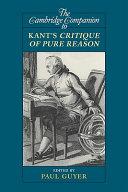 Pdf The Cambridge Companion to Kant's Critique of Pure Reason