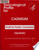 Draft Toxicological Profile for Cadmium