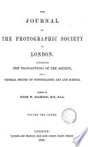 THE JOURNAL OF THE PHOTOGRAPHIC SOCIETY OF LONDON  Book