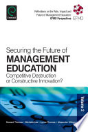 Securing the Future of Management Education Book PDF
