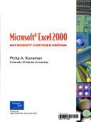 Microsoft Excel 2000 Revised Printing Book PDF