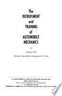 The Recruitment and Training of Automobile Mechanics