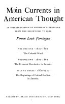 Main Currents in American Thought  1860 1902  The beginnings of critical realism in America  completed to 1900 only  Addenda