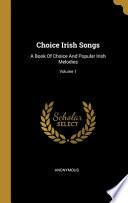 Choice Irish Songs