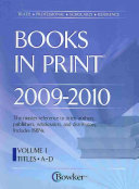 Books In Print 2009 2010