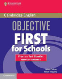 Pdf Objective First For Schools Practice Test Booklet Without Answers