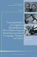 Conventionality in Cognitive Development  How Children Acquire Shared Representations in Language  Thought  and Action Book PDF