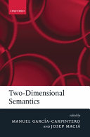 Two Dimensional Semantics