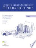 Nationaler Bildungsbericht Österreich 2015, Band 1