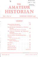 The Amateur Historian