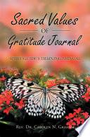 Sacred Values of Gratitude Journal