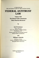 Federal Antitrust Law: The Federal Trade Commission