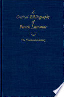 """""""A Critical Bibliography of French Literature: Volume V: The Nineteenth Century in Two Parts (2 Book set)"""" by David Baguley"""
