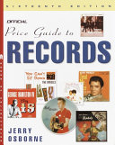 The Official Price Guide to Records Book