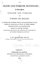 An English and Turkish Dictionary in Two Parts, English and Turkish, and Turkish and English ebook