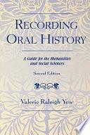 Recording Oral History