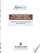 Holt Adapted Reader Grade 9