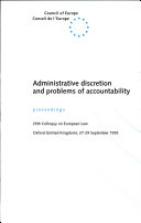Administrative Discretion and Problems of Accountability