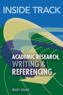 Inside Track to Academic Research  Writing   Referencing