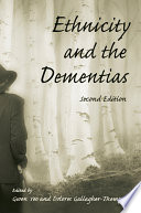 Ethnicity And The Dementias Book PDF