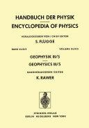 Pdf Geophysik III / Geophysics III Telecharger
