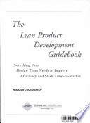 The Lean Product Development Guidebook Book PDF