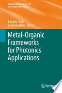 Metal Organic Frameworks for Photonics Applications Book