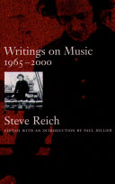 Writings on Music, 1965-2000 Pdf/ePub eBook