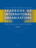 Yearbook Of International Organizations 2020 2021 Volume 2