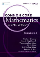 Common Core Mathematics in a PLC at Work         Grades 3 5