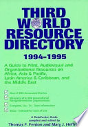 Third World Resource Directory, 1994-1995